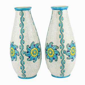 Vases by Charles Catteau for Boch Frères, 1924, Set of 2