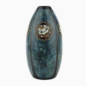 Modell D771 F987 Keramik Steingut Vase von Charles Catteau für Boch Frères, 1923