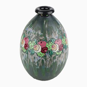 Model D700 F960 Keramis Stoneware Vase by Charles Catteau for Boch Frères, 1922