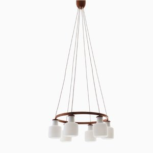 Scandinavian Modern Model 551 Chandelier by Uno & Östen Kristiansson for Luxus, 1950s