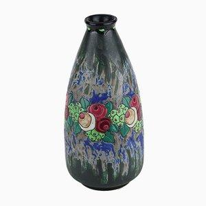 Modell D700 F898 Keramik Steingut Vase von Charles Catteau für Boch Frères, 1922