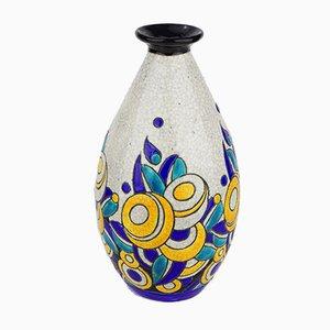 Modell D1175 F960 Keramik Vase von Charles Catteau für Boch Frères, 1928