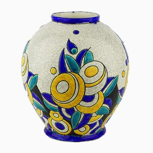 Model D1175 F894 Keramis Vase by Charles Catteau for Boch Frères, 1928
