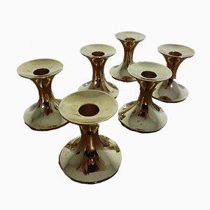 Vergoldete Kerzenhalter von BSF, 1960er, 6er Set