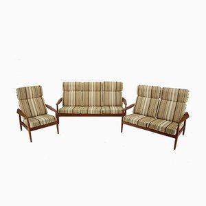 Living Room Set by Arne Vodder for France & Søn/France & Daverkosen, 1960s, Set of 3