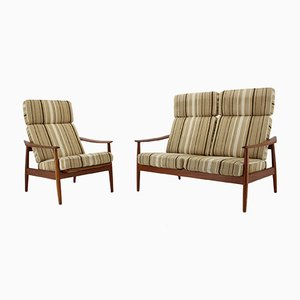 Danish Living Room Set by Arne Vodder for France & Søn/France & Daverkosen, 1960s, Set of 2