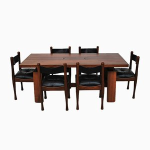 Dining Table & Chairs Set by Silvio Coppola for Bernini, 1960s, Set of 6