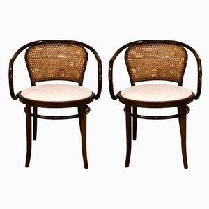 Armlehnstühle aus geformtem Buchenholz von TON, 1950er, 2er Set