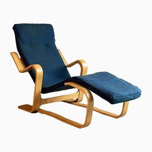Blauer Modell Long Chair Liegesessel von Marcel Breuer für Isokon, 1940er