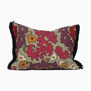 Embroidered and Printed Linen Pillow by Katrin Herden for Sohil Design