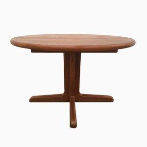 Mid-Century Round Danish Teak Extendable Dining Table