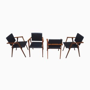 Model Luisa Dining Chair by Franco Albini for Poggi, 1950s, Set of 4