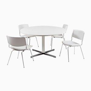 Table de Salle à Manger Guéridon et Chaises Badminton Modèle ND150 par Nanna Ditzel pour Kolds Savvaerk, Danemark, années 50, Set de 5