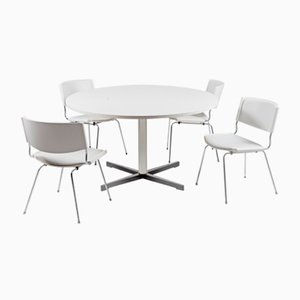 Tavolo da pranzo ND150 Badminton e sedie di Nanna Ditzel per Kolds Savvaerk, Danimarca, anni '50, set di 5