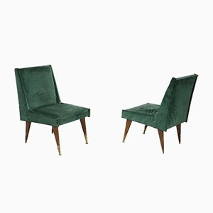 Green Lounge Chairs by Carlo Pagani, 1950s, Set of 2
