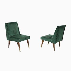 Sillones verdes de Carlo Pagani, años 50. Juego de 2