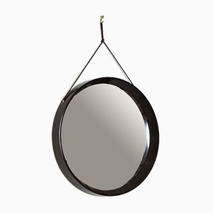 Mid-Century Danish Brown Plastic Mirror, 1960s
