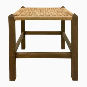Oak and Rope Stool, 1930s