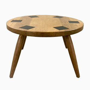 Ceramic and Oak Coffee Table, 1950s