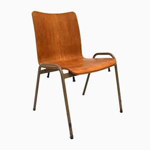 Danish Bentwood and Metal Dining Chair, 1960s
