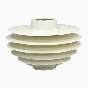 Lámpara colgante vintage blanca de Svend Middelboe para Nordisk Solar