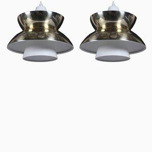 Danish Søværns Pendels Pendant Lamps from Louis Poulsen, 1960s, Set of 2