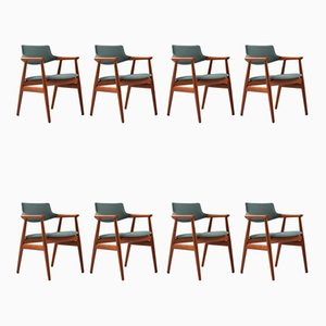 Mid-Century Danish Teak Dining Chairs by Svend Åge Eriksen for Glostrup, 1960s, Set of 8