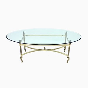 Vintage Brass Coffee Table, 1980s