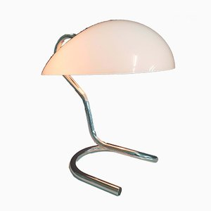 Italian Chrome and Plexiglass Table Lamp, 1970s