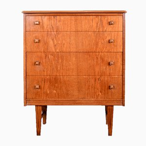 Danish Teak and Brass Dresser, 1960s
