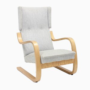 Vintage Swedish Model 36/401 Lounge Chair by Alvar Aalto for Artek