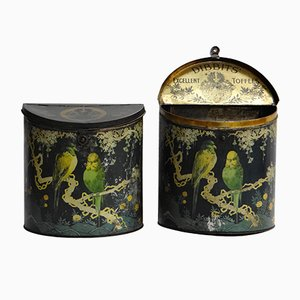 Antique Toffee Tins from Dibbits, Set of 2