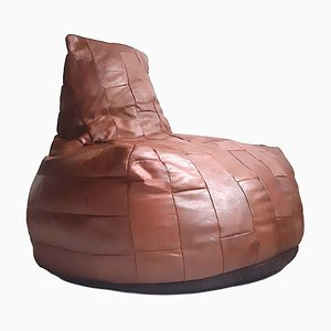 High Back Leather Bean Bag from de Sede, 1970s