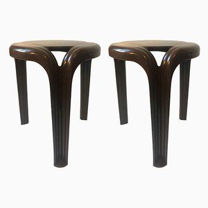 Tripod Stacking Stools by Henry Massonnet for Stamp, 1970s, Set of 2
