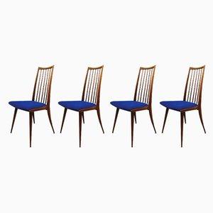Dänische Vintage Esszimmerstühle mit Spindelrücken, 1960er, 4er Set