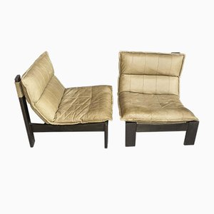 Leather Club Chairs, 1970s, Set of 2