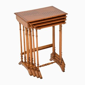 Antique French Rosewood Nesting Tables, Set of 4