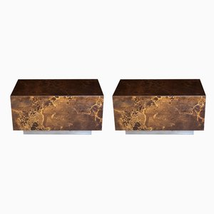 Lacquered Coffee Tables by Guy Lefevre for Ligne Roset, 1970s, Set of 2