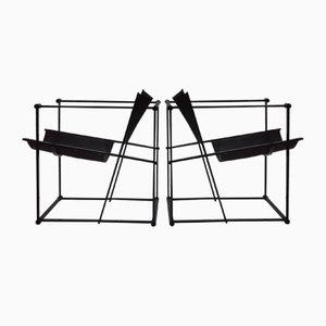 Würfelförmiger FM62 Stuhl von Radboud Van Beekum für Pastoe, 1980er, 2er Set