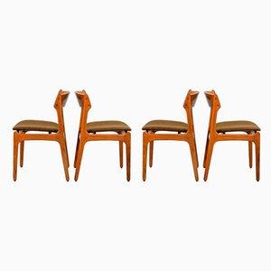 Chaises de Salle à Manger Mid-Century par Erik Buch pour Oddense Maskinsnedkeri / OD Møbler, Danemark, années 60, Set de 4