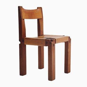 S11 Stuhl aus massivem Ulmenholz von Pierre Chapo, 1960er