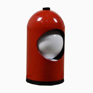 Lámpara de mesa Eclipse vintage en rojo de ABM, años 70