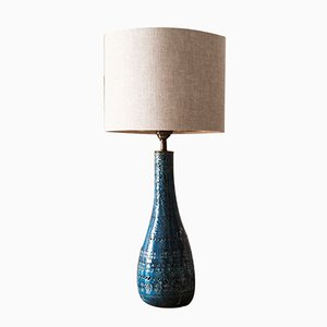 Large Blue Ceramic Table Lamp from Bitossi, 1960s