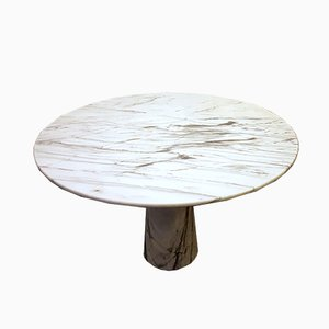 Italian Carrara Marble Dining Table, 1970s