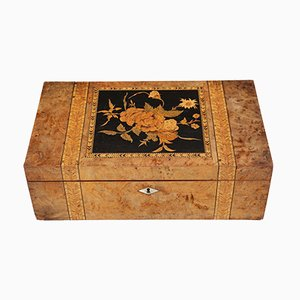 Antique Victorian Marquetry Writing Box