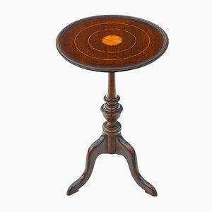 Tavolino georgiano antico intarsiato in mogano