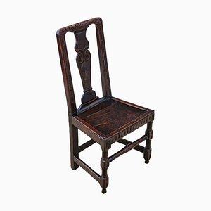 Antiker georgianischer Beistellstuhl aus Eiche
