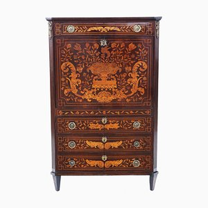 Antique Dutch Marquetry Secretaire