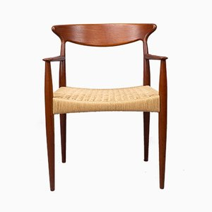 Danish Teak Carver Dining Chair by Arne Hovmand-Olsen for Mogens Kold, 1960s