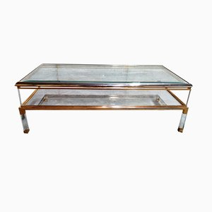 Vintage Brass Coffee Table, 1970s